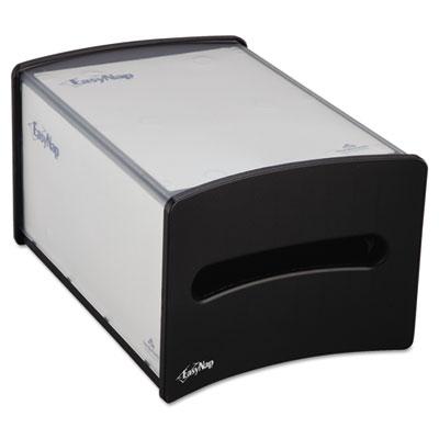 Easynap countertop napkin dispenser, m-window, 9 1/4w x 13 5/8d x 7 1/4h, black, sold as 1 each