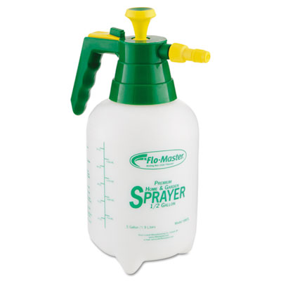 Sprayer/mister w/adjustable poly nozzle, 64 oz, polyethylene, green/white, sold as 1 each