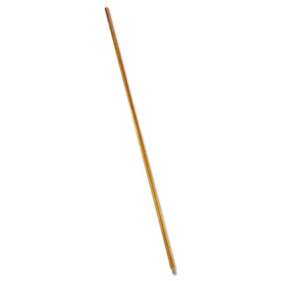 "Wood threaded-tip broom/sweep handle, 60"", natural, sold as 1 each"