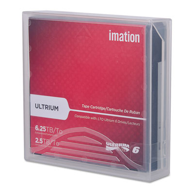 """1/2"""" ultrium lto-6 cartridge, 2538 ft, 2.5tb native/6.25tb compressed, sold as 1 each"""