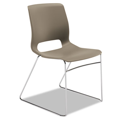 Motivate seating high-density stacking chair, shadow/chrome, 4/carton, sold as 1 carton, 4 each per carton