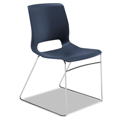 Motivate seating high-density stacking chair, regatta/chrome, 4/carton, sold as 1 carton, 4 each per carton