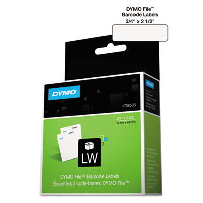 Labelwriter bar code labels, 3/4 x 2 1/2, white, 450 labels/roll, sold as 1 roll