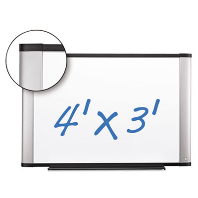 Porcelain dry erase board, 48 x 36, widescreen aluminum frame, sold as 1 each