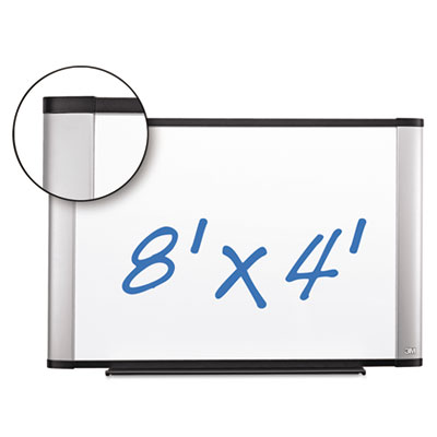 Porcelain dry erase board, 96 x 48, widescreen aluminum frame, sold as 1 each