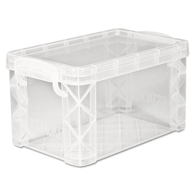 Super stacker storage boxes, hold 400 3 x 5 cards, plastic, clear, sold as 1 each