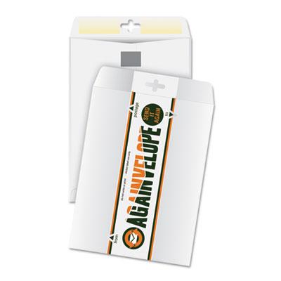 Againvelope envelope, reusable, 9 x 12, white, sold as 1 box, 25 each per box