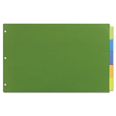 Insertable big tab plastic dividers, 5-tab, 11 x 17, sold as 1 set