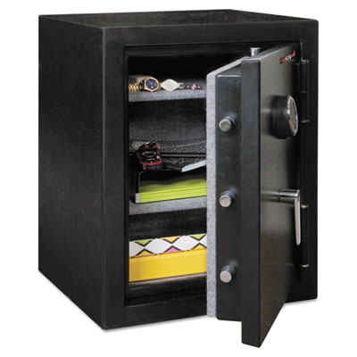 Half hour fire and water safe, 4.02 ft3, 21-3/5 x 19 x 27-1/4, black, sold as 1 each