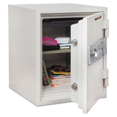 Two hour fire and water safe, 1.48 ft3, 18-1/5 x 18-1/3 x 21-3/4, white, sold as 1 each