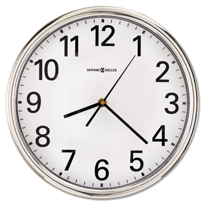 "Hamilton wall clock, 12"", silver, 1 aa, sold as 1 each"