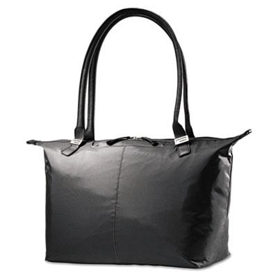 Jordyn ladies laptop bag, 21 1/4 x 7 1/2 x 12, nylon, black, sold as 1 each