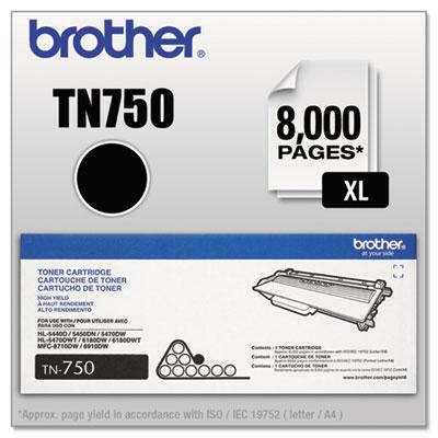 Tn750 high-yield toner, black, sold as 1 each