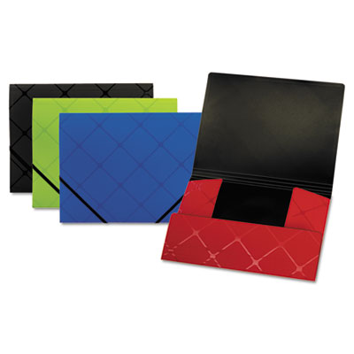 Tri-fold folder, letter, poly, assorted, sold as 1 each