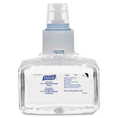 Advanced instant hand sanitizer foam, ltx-7, 700 ml refill, sold as 1 each