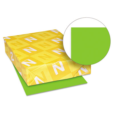 Astrobrights colored card stock, 65 lb., 8-1/2 x 11, martian green, 250 sheets, sold as 1 package