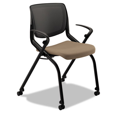 Motivate seating nesting/stacking flex-back chair, morel/shadow/black, sold as 1 each