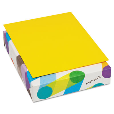 Britehue multipurpose colored paper, 20lb, 8 1/2 x 11, sun yellow, 500 sheets, sold as 1 ream