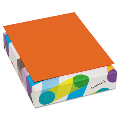 Britehue multipurpose colored paper, 20lb, 8 1/2 x 11, orange, 500 sheets, sold as 1 ream