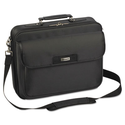 Checkpoint-friendly laptop case, 13 1/4 x 3 1/4 x 15 3/4, black, sold as 1 each