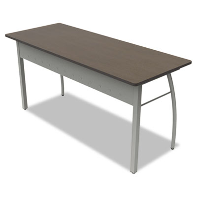 Trento line rectangular desk, 59-1/8w x 23-5/8d x 29-1/2h, mocha, sold as 1 each