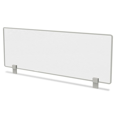Trento line dividing panel, polycarbonate, 47-1/8 x 1 3/4 x 15-1/2, translucent, sold as 1 each