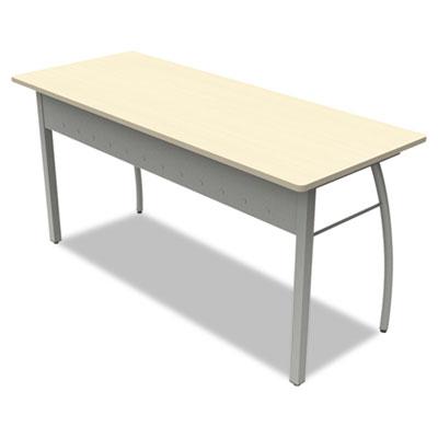Trento line rectangular desk, 59-1/8w x 23-5/8d x 29-1/2h, oatmeal, sold as 1 each