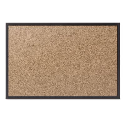 Classic cork bulletin board, 96x48, black aluminum frame, sold as 1 each