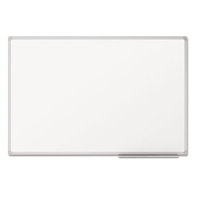 Dry-erase board, melamine surface, 36 x 24, silver aluminum frame, sold as 1 each