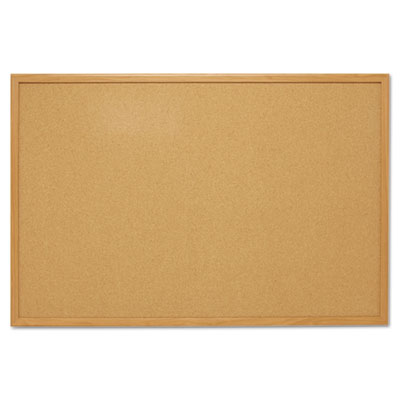 Cork bulletin board, 48 x 36, oak frame, sold as 1 each