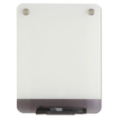 Clarity glass personal dry erase boards, ultra-white backing, 9 x 12, sold as 1 each