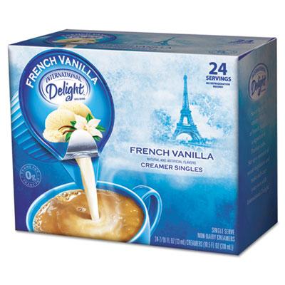 Flavored liquid non-dairy coffee creamer, french vanilla, .44oz cup, 24/box, sold as 1 box, 24 each per box