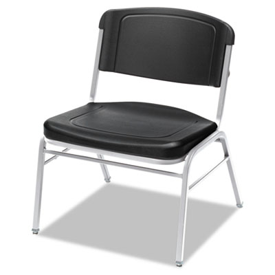 Rough n ready series big & tall stackable chair, black/silver, 4/carton, sold as 1 carton, 4 each per carton