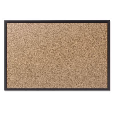 Classic cork bulletin board, 48x36, black aluminum frame, sold as 1 each