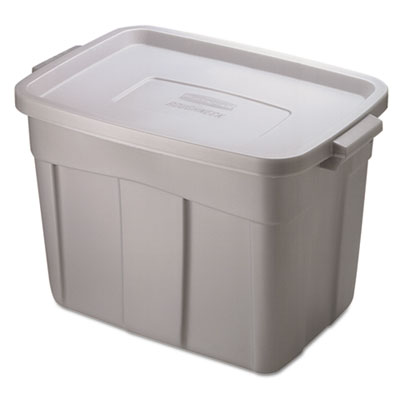 Roughneck storage box, 18 gal, steel gray, sold as 1 each