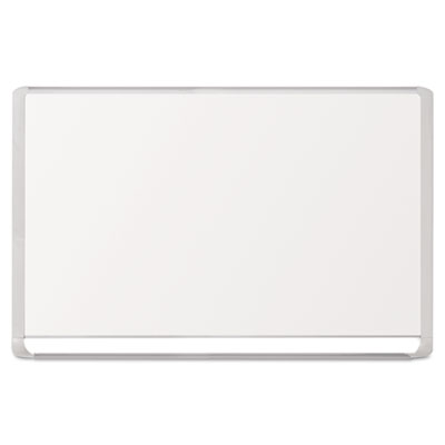 Lacquered steel magnetic dry erase board, 48 x 72, silver/white, sold as 1 each