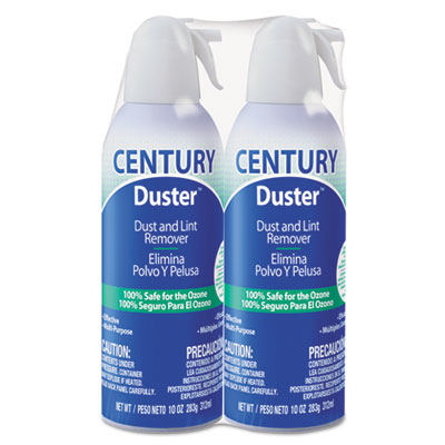 Disposable compressed gas duster, 10 oz, 2/pk, sold as 1 package