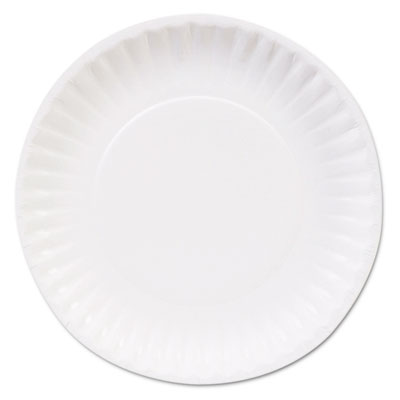 "Clay coated paper plates, 6"", white, 100/pack, sold as 1 carton, 12 package per carton"