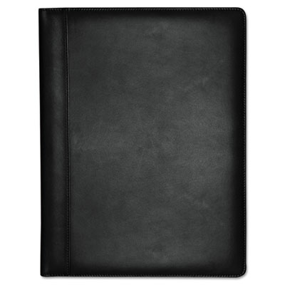 Executive leather padfolio, 9-1/2 x 12-1/2, black, sold as 1 each