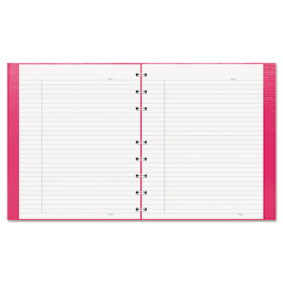 Notepro notebook, 7 1/4 x 9 1/4, white paper, bright pink cover, 75 ruled sheets, sold as 1 each