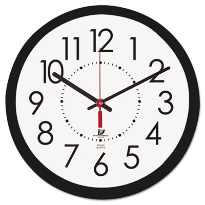 "Electric contemporary clock, 14-1/2"", black, sold as 1 each"