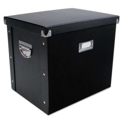 File box, 13 x 10 x 11, letter, paperboard, black, sold as 1 each