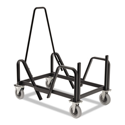 Motivate seating cart high-density stacking chairs, 21-3/8 x 34-1/4 x 36-5/8,blk, sold as 1 each