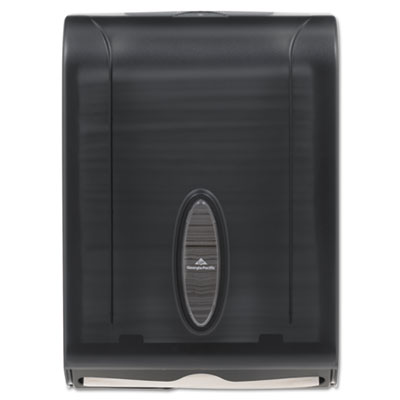 C-fold/multifold towel dispenser, 11 x 5 1/4 x 15 2/5, translucent smoke, sold as 1 each