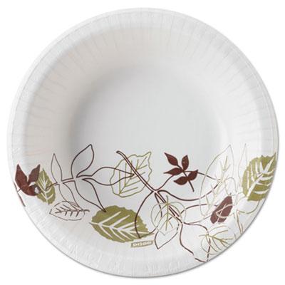 Pathways heavyweight paper bowls, 12oz, green/burgundy, 1000/carton, sold as 1 carton, 1000 each per carton