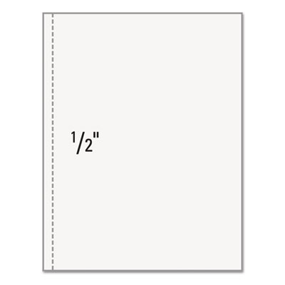 "Office paper, perforated 1/2"" vertical from left, 8 1/2 x 11, 20-lb, 500/ream, sold as 1 ream"