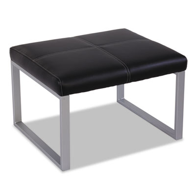 Ispara series cube ottoman, 26-3/8 x 22-5/8 x 17-3/8, black/silver, sold as 1 each