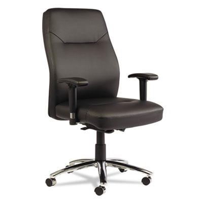 Lc leather series self-adjusting chair, black, sold as 1 each