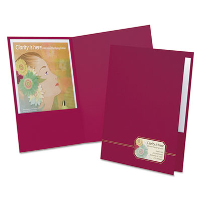 Monogram series business portfolio, cover stock, burgundy/gold, 4/pack, sold as 1 package