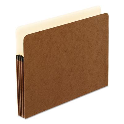 Standard expanding file pockets, manila, straight cut, 1 pocket, letter, redrope, sold as 1 box, 25 each per box